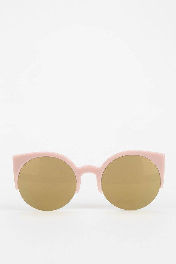 Super Lucia Pussycat Round Cat-Eye Sunglasses