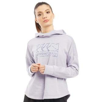 Canterbury of New Zealand Womens VapoDri Fleece Hoodie Lavender Fog Marl