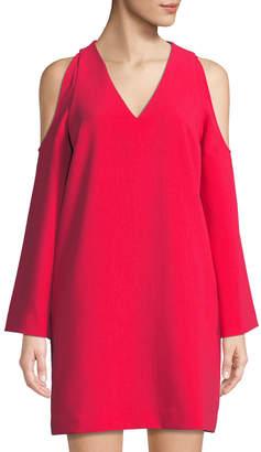 Rachel Roy Cold-Shoulder Long-Sleeve Shift Dress