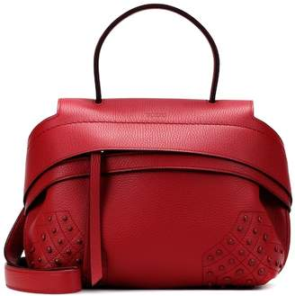 Tod S Wave Mini Leather Shoulder Bag