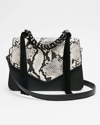 Express Chain Handle Snake Print Bag
