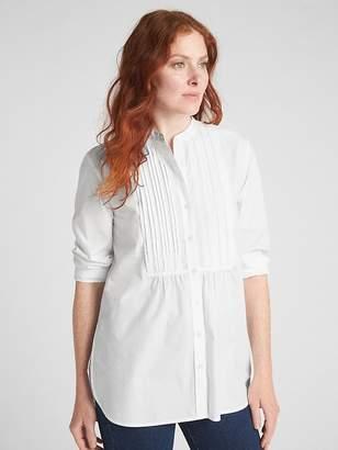 Gap Long Sleeve Pintuck Shirt in Poplin