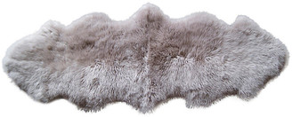 One Kings Lane 2'x6' Abella Sheepskin Rug - Taupe