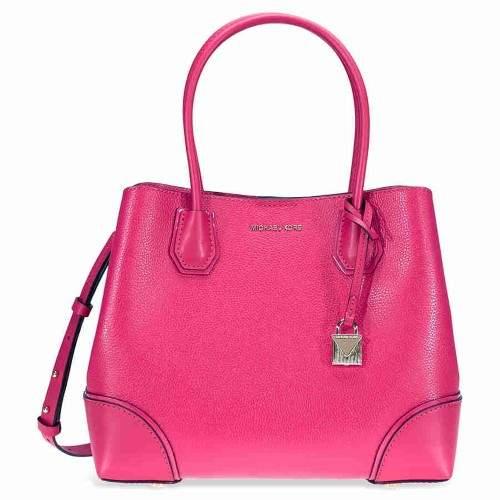 Michael Kors Mercer Medium Leather Satchel - Ultra Pink - ONE COLOR - STYLE