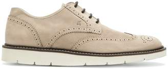 Hogan contrast sole brogues