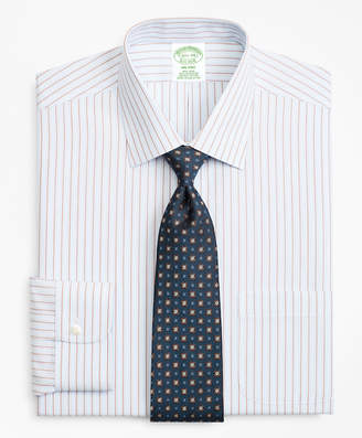 Brooks Brothers Milano Slim-Fit Dress Shirt, Non-Iron Hairline Alternating Stripe