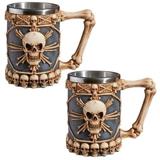 Toscano Design Skullduggery Tankard Mug: Set of Two