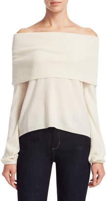Sea Bleu Ribbed Cashmere Sweater