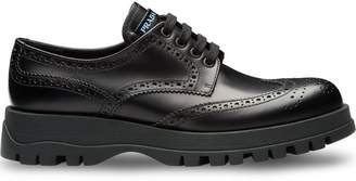 Prada Leather derby shoes with rubber sole