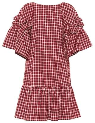 Fendi Checked cotton dress