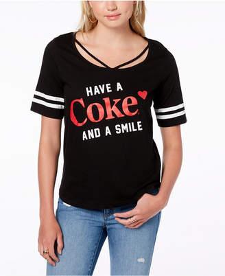 Freeze 24-7 Juniors' Cotton Coca-Cola Graphic T-Shirt