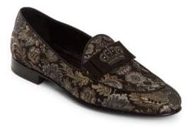 Dolce & Gabbana Embroidered Jacquard Loafers