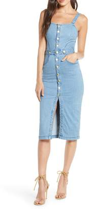 Finders Keepers Mia Stretch Denim Sundress