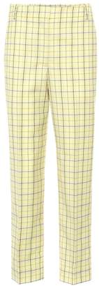 Tibi Taylor mid-rise cropped pants