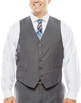 COLLECTION Collection by Michael Strahan Gray Weave Suit Vest - Big & Tall