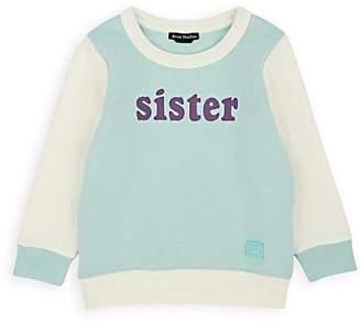 "Acne Studios Kids' ""Sister"" Cotton Fleece Sweatshirt - Green"
