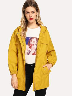 Shein Faux Leather Utility Jacket