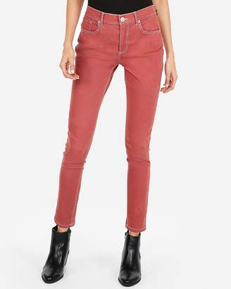 Express High Waisted Contrast Stitch Stretch Twill Ankle Leggings