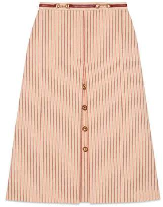 Gucci Wool skirt with GG buttons
