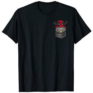 Marvel Deadpool Cute Cartoon Faux Pocket Graphic T-Shirt