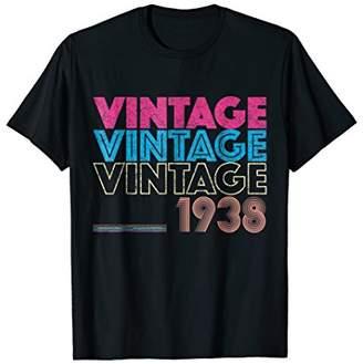 Vintage t shirt Born in 1938 Retro Birthday Gift Shirt