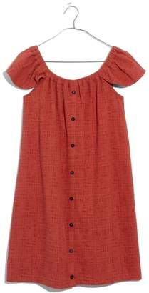 Madewell Texture & Thread Off the Shoulder Knit Dress