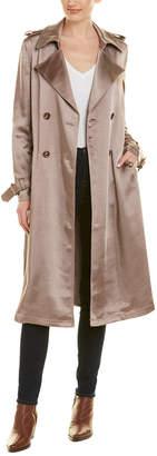 Badgley Mischka Satin Trench Coat