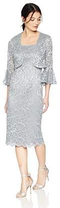 Alex Evenings Women's Shift Bolero Jacket Dress with Bell Sleeves (Petite and Regular Sizes),10P