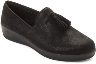 FitFlop Black Superskate Tassel Suede Loafers