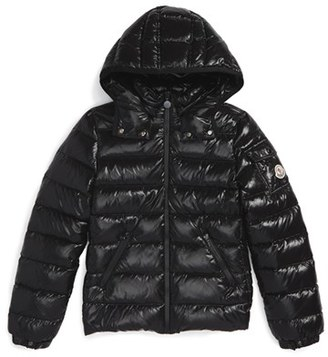 Toddler Girl's Moncler 'Bady' Hooded Down Jacket $445 thestylecure.com