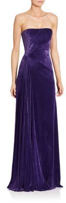 Ralph Lauren Collection Kersten Strapless Velvet Gown $5,990 thestylecure.com
