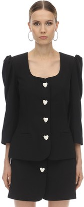 George Keburia HEART BUTTON VISCOSE CREPE BLAZER