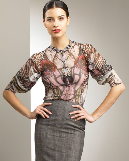 Alexander McQueen Stained Glass Silk Blouse