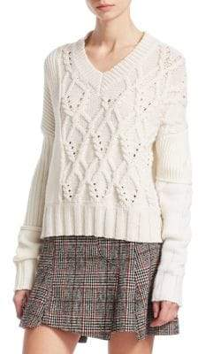 McQ Cable-Knit Wool-Blend Sweater