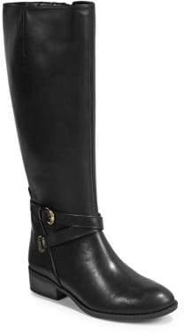 Lauren Ralph Lauren Leather Almond-Toe Tall Boots