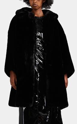 Comme des Garcons Women's Oversized Faux-Fur Coat - Black