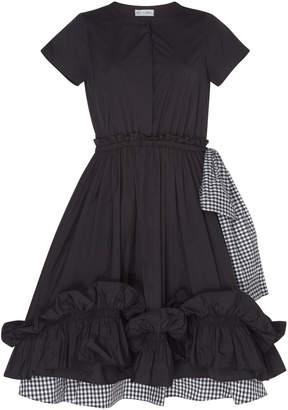 Dice Kayek Elegant Ruffle Silk Dress