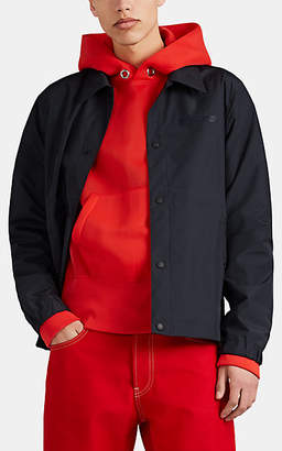 Helmut Lang Men's Logo Tech-Taffeta Stadium Jacket - Black