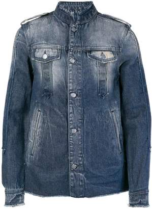 Balmain washed-effect denim jacket
