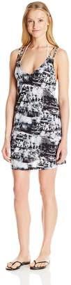 Lucky Brand Women's Global Tie Dye Knit Strapped Swing Dress Cover up