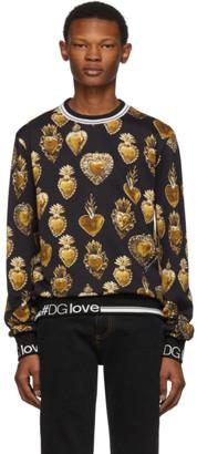 Dolce & Gabbana Black Sacred Heart Sweatshirt