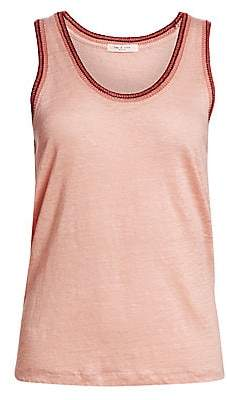 Rag & Bone Women's Molly Linen Jersey Tank Top