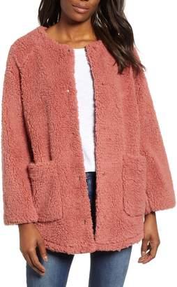 Caslon Fuzzy Fleece Jacket