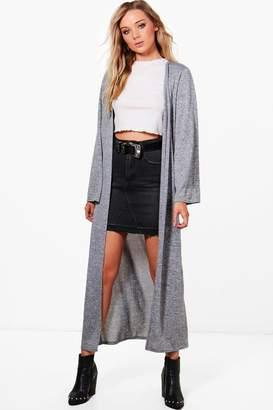 boohoo Maxi Knitted Kimono Cardigan