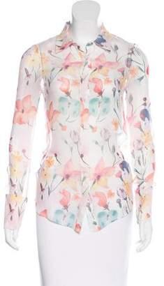 Thomas Wylde Floral Print Long Sleeve Top