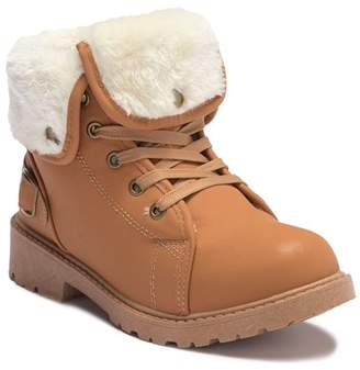 OLIVIA MILLER Faux Fur Lace-Up Ankle Boot (Little Kid & Big Kid)
