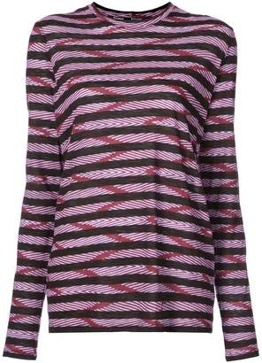 Proenza Schouler Chevron Stripe Long Sleeve T-Shirt