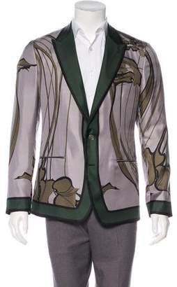 Dolce & Gabbana Printed Silk Blazer