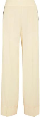 Maison Margiela - Grosgrain-trimmed Wool-blend Pants - Cream $755 thestylecure.com