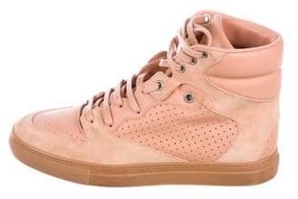 Balenciaga Perforated High-Top Sneakers